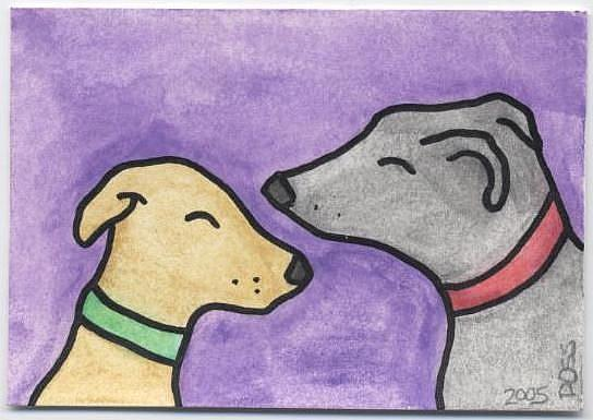 Art: Two Greys ACEO by Artist Jenny Doss