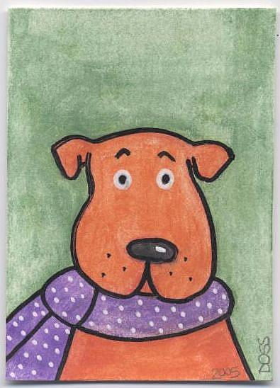 Art: Chili Dog ACEO by Artist Jenny Doss