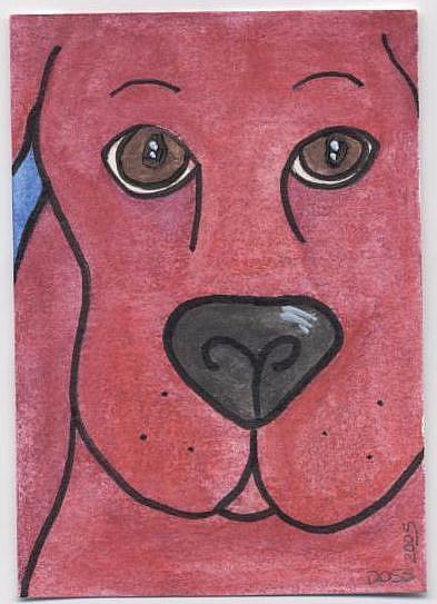 Art: Sly Dog ACEO by Artist Jenny Doss