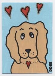 Art: Spaniel in Love ACEO by Artist Jenny Doss