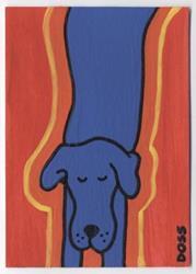 Art: Blue Tide Dog ACEO by Artist Jenny Doss