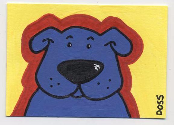 Art: Blue Boy ACEO by Artist Jenny Doss