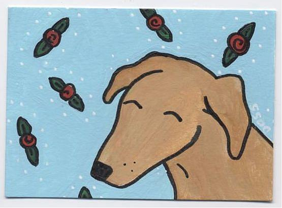 Art: Sasha in Roses ACEO by Artist Jenny Doss