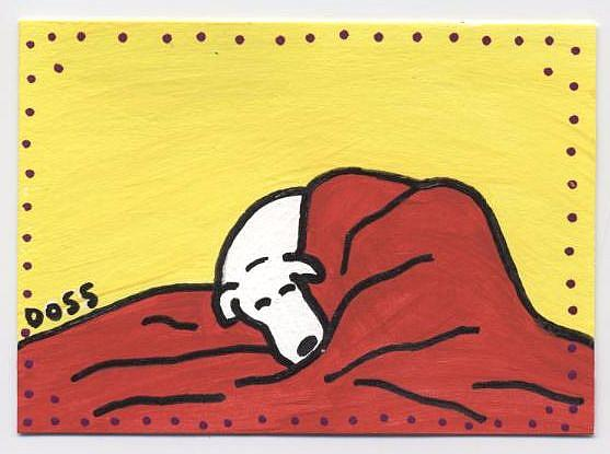 Art: Napping ACEO by Artist Jenny Doss