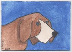 Art: Hound II by Artist Jenny Doss