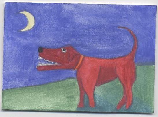 Art: Red Dog by Artist Jenny Doss