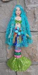 Art: Boho Gypsy Mermaid Art Doll by Artist Lisa M. Nelson