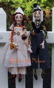 Detail Image for art Custom Zombie Bride and Groom Dolls