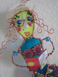 Art: Madeline the Reading Mermaid by Artist Dianne McGhee