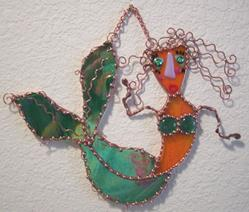 Art: Blossom the sea loving mermaid by Artist Dianne McGhee