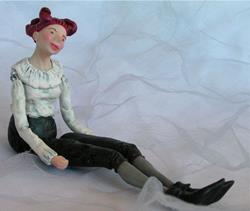 Art: Beatrice - Jointed Doll by Artist Andree Chenier