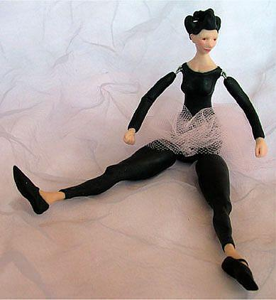 Art: Teresa the ballerina - Jointed Doll by Artist Andree Chenier