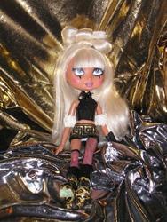Art: Lady Ga Ga Re-purposed Art Doll by Artist Alma Lee