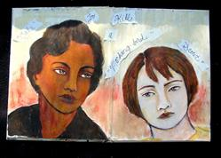 Art: 'Scout and Cal: To Kill a Mockingbird', Art Journal Entry by Artist Patience