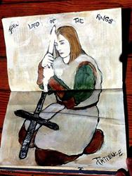 Art: 'Lord of the Rings': An Art Journal Entry by Artist Patience