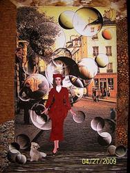 Art: Paris Street Bubbles by Artist Karin Elizabeth Weiss