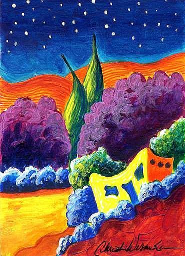 Art: Evening of Enchantment 2 by Artist Christine Wasankari