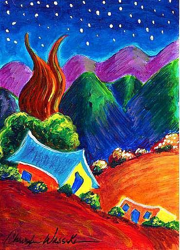 Art: Evening of Enchantment 3 by Artist Christine Wasankari