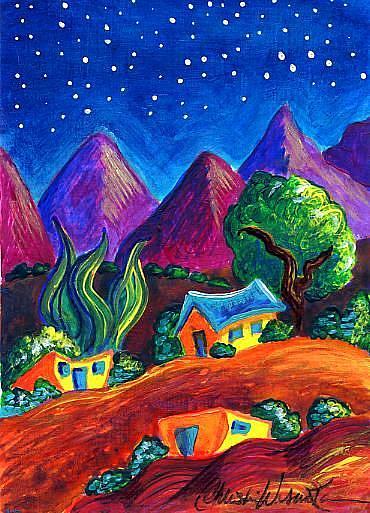 Art: Evening of Enchantment 4 by Artist Christine Wasankari