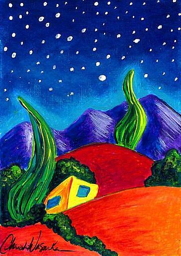Art: Evening of Enchantment 6 by Artist Christine Wasankari