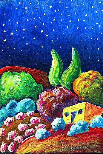 Art: Evening of Enchantment 13 by Artist Christine Wasankari