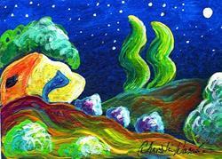 Art: Evening of Enchantment 15 by Artist Christine Wasankari