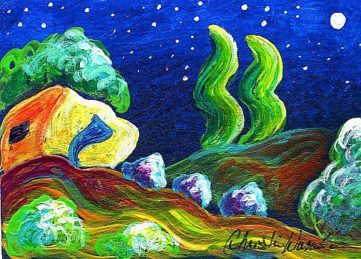 Art: Evening of Enchantment 15 by Artist Christine Wasankari