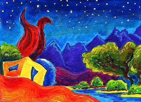 Art: Rio Grande Nights by Artist Christine Wasankari