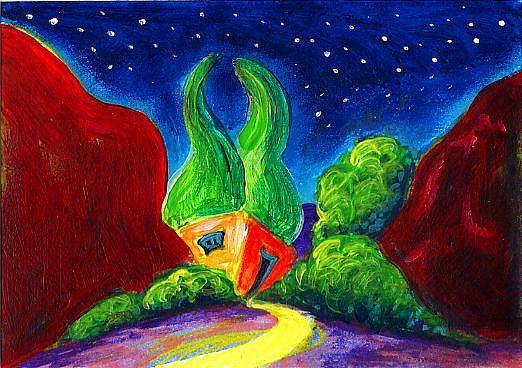 Art: Evening of Enchantment ~~ #17 by Artist Christine Wasankari