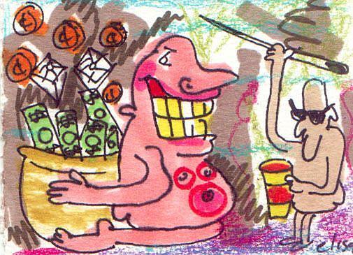 Art: Greed by Artist Elisa Vegliante