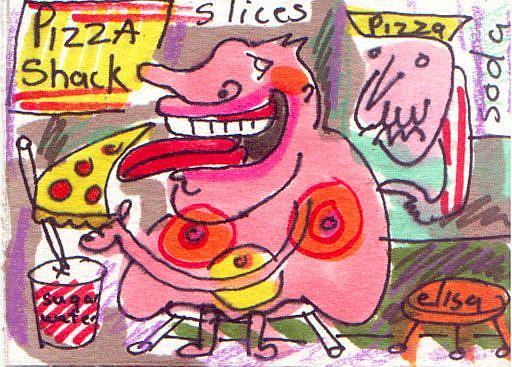 Art: Gluttony by Artist Elisa Vegliante