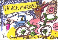 Art: Black Market Whoop A** You Can't Return This by Artist Elisa Vegliante