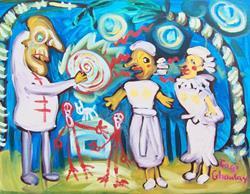 Art: White Zombie by Artist Elisa Vegliante