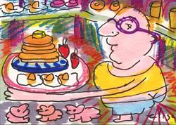 Art: Big Breakfast Cafeteria by Artist Elisa Vegliante