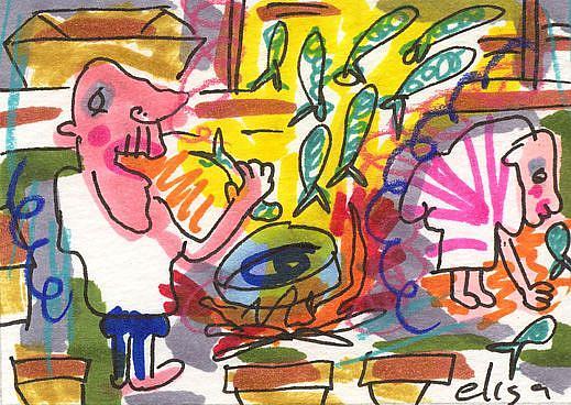 Art: Fish Fry by Artist Elisa Vegliante
