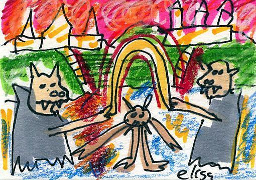 Art: Vampire Jump Rope by Artist Elisa Vegliante