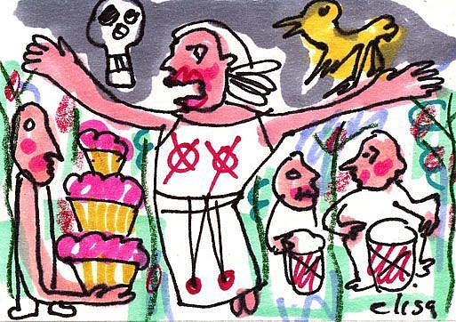 Art: Voodoo Cupcakes by Artist Elisa Vegliante