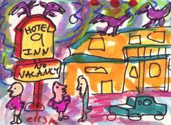 Art: Hotel 9 by Artist Elisa Vegliante