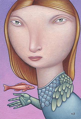 Art: Nature Girl by Artist Valerie Jeanne