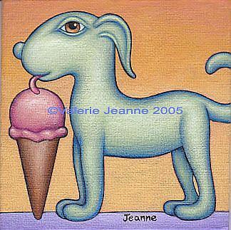 Art: Ice Cream Pup by Artist Valerie Jeanne