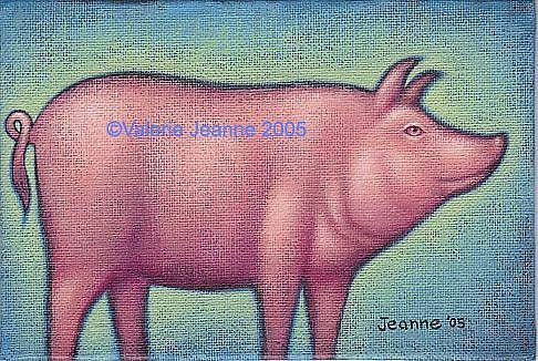 Art: Pretty in Pink by Artist Valerie Jeanne
