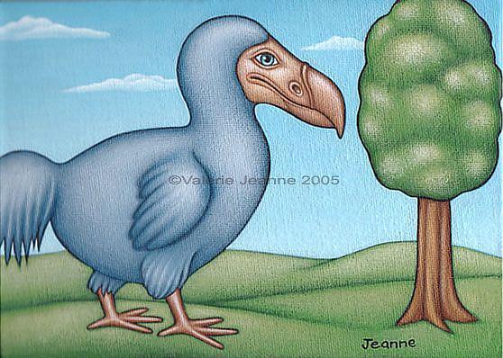 Art: Return of the Dodo  by Artist Valerie Jeanne
