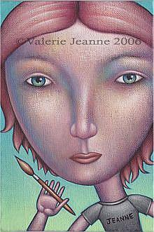 Art: Portrait of the Artist by Artist Valerie Jeanne