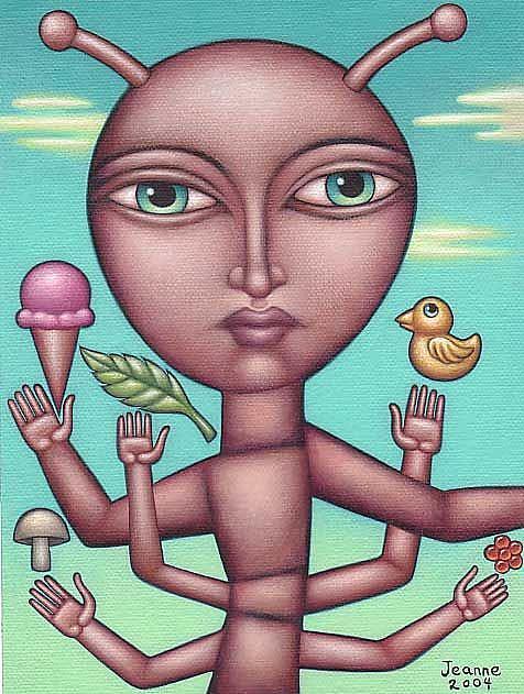 Art: Alien Ant by Artist Valerie Jeanne
