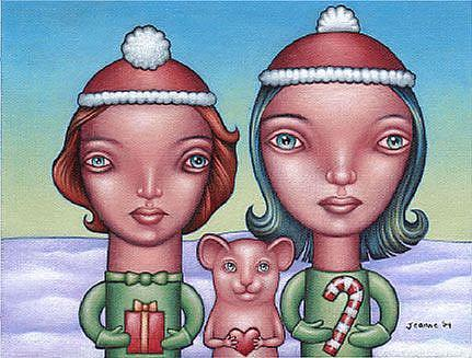 Art: Happy Holidays 2004 by Artist Valerie Jeanne