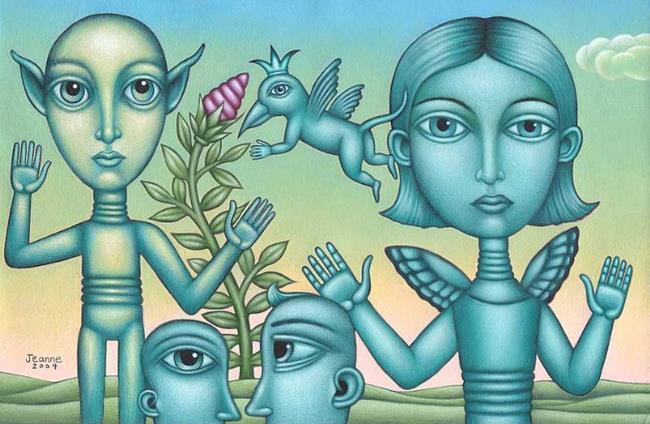 Art: Reunion by Artist Valerie Jeanne