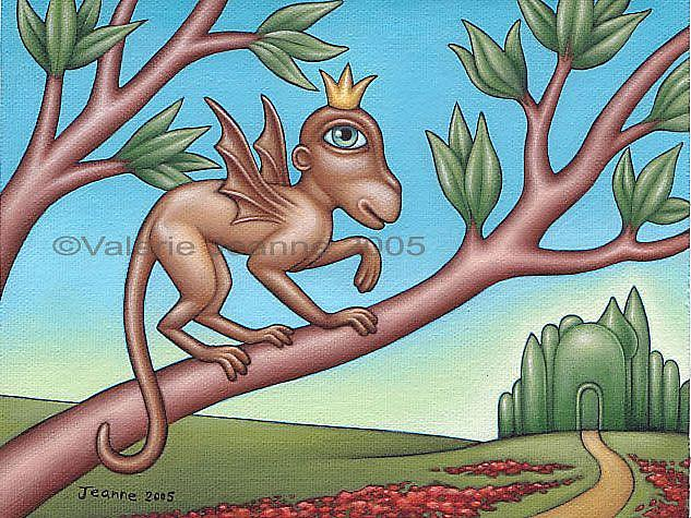 Art: Winged Monkey by Artist Valerie Jeanne