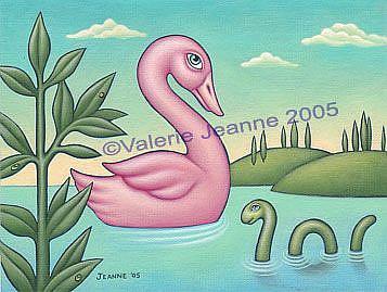 Art: Swan Swam Over the Sea by Artist Valerie Jeanne