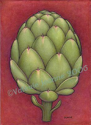 Art: Artichoke by Artist Valerie Jeanne