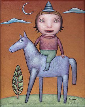 Art: The Rider by Artist Valerie Jeanne